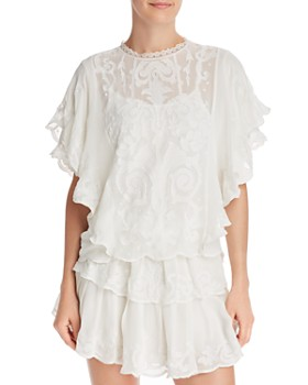 Generation Love - April Ruffled Embroidered Top