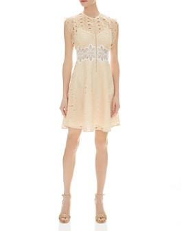 Sandro - Kamel Sleeveless Lace Zip-Front Dress