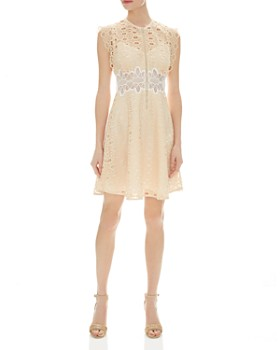 Sandro - Kamel Sleeveless Lace Zip-Front Dress