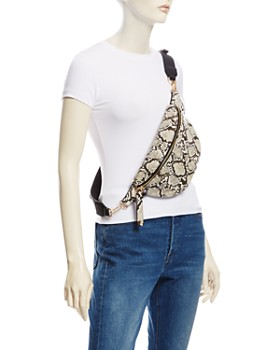 AQUA - Snake-Print Medium Belt Bag - 100% Exclusive
