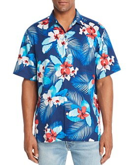 Tommy Bahama - Monterosso Beach Silk Short-Sleeve Classic Fit Camp Shirt