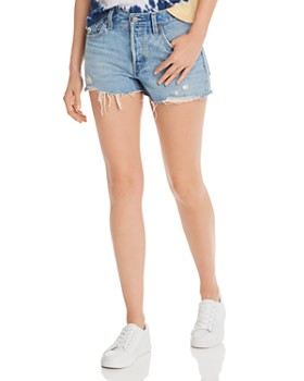 Levi's - 501 Cutoff Denim Shorts in Luxor Light Destructed