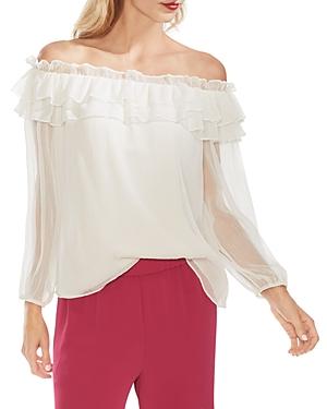 Vince Camuto Tops OFF-THE-SHOULDER RUFFLE BLOUSE