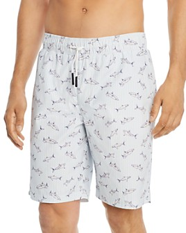 Sovereign Code - Sunset Shark-Print Swim Trunks