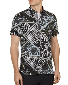 Ted Baker - Anova Leaf Print Slim Fit Shirt