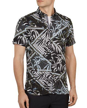 Ted Baker - Anova Leaf Print Slim Fit Shirt