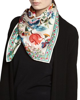 Salvatore Ferragamo - Tree Of Life Silk Scarf