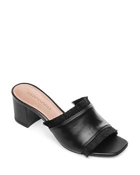 Bernardo - Women's Bryn Fringe Block-Heel Mules