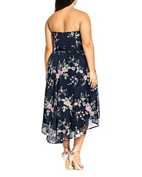 City Chic Plus - Aphrodite Strapless Floral-Embroidered Dress