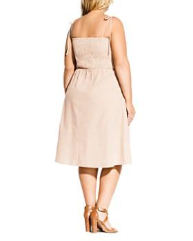 City Chic Plus - Riviera Striped Button-Front Dress