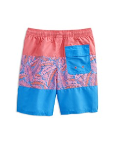 Vineyard Vines - Boys' Island Palm Pieced Chappy Swim Shorts - Little Kid, Big Kid