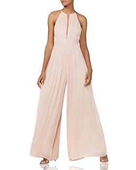 291fdd2bee6c03 HALSTON HERITAGE - Wide-Leg Georgette Jumpsuit - 100% Exclusive ...
