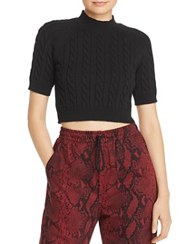 alexanderwang.t - Cable Knit Crop Top