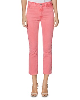 04421dc15 PAIGE - Colette Crop Slim Jeans in Faded Pink Valentine ...
