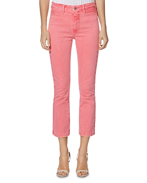Paige Jeans COLETTE CROP SLIM JEANS IN FADED PINK VALENTINE