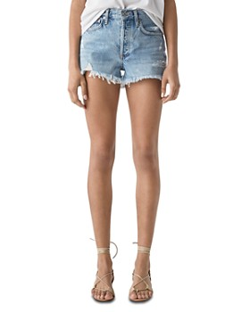 AGOLDE - Parker Vintage Cutoff Denim Shorts in Swapmeet