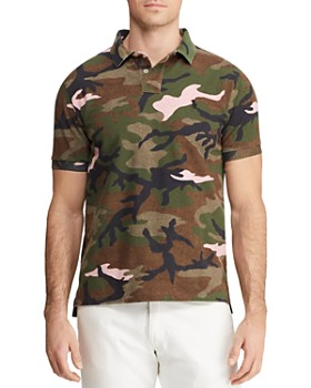 Polo Ralph Lauren - Camouflage-Print Mesh Custom Slim Fit Polo Shirt