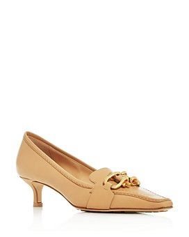 Bottega Veneta - Women's Square Toe Kitten-Heel Loafers