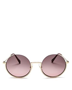 Miu Miu Women's Round Sunglasses, 52mm