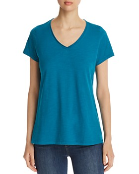 Eileen Fisher - Organic Cotton High/Low Tee - 100% Exclusive