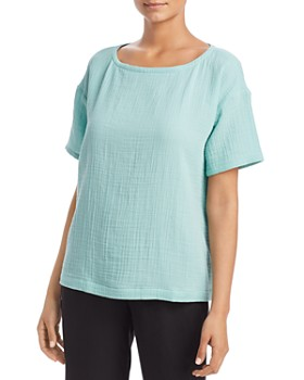 f321a2bacdc Eileen Fisher - Short-Sleeve Top ...