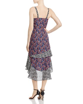 Parker - Kathy Mixed-Print Dress