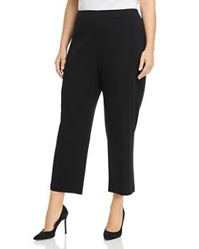 Misook Plus - Cropped High-Rise Pants