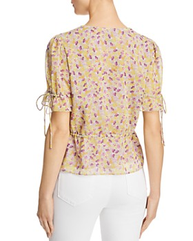 The East Order - Arlo Floral Tie-Detail Top