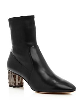 Salvatore Ferragamo - Women's Camelia Leather High-Heel Booties
