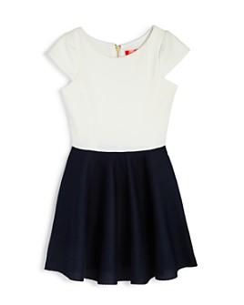 AQUA - Girls' Cap Sleeve Twofer Dress, Big Kid - 100% Exclusive