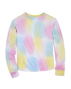 Flowers by Zoe - Girls' Tie-Dyed Slit-Neck Sweatshirt - Big Kid