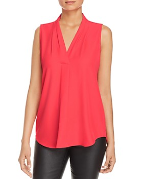 Calvin Klein - V-Neck Sleeveless Blouse