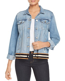 Scotch & Soda - Striped-Hem Denim Trucker Jacket