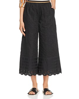 Scotch & Soda - Embroidered Wide-Leg Pants