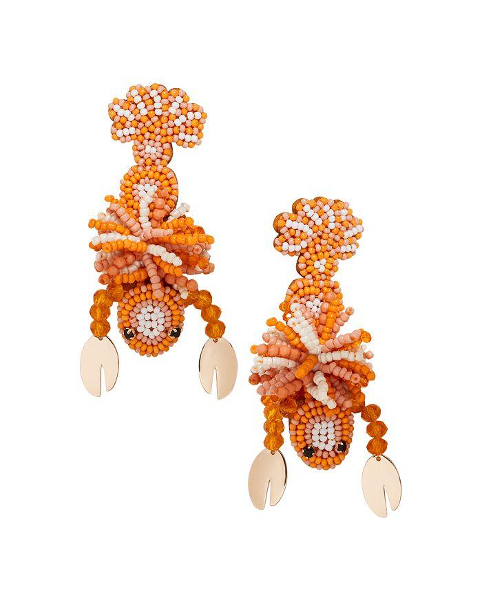 BAUBLEBAR - Amazon Beaded Lobster Drop Earrings