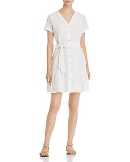 Vero Moda - Sammi Belted Button-Down A-Line Dress