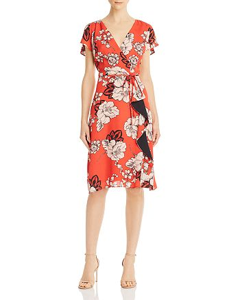 Adrianna Papell - Floral Wrap-Style Dress