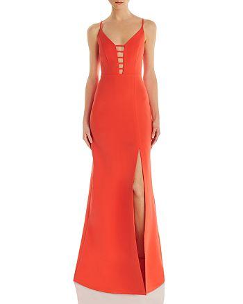 BCBGMAXAZRIA - Cutout Crepe Gown