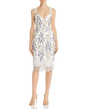 BRONX AND BANCO - Floral Embroidered Sheath Dress