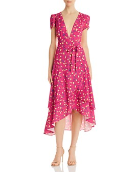 Betsey Johnson - Floral Faux-Wrap Dress