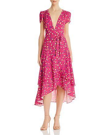 Betsey Johnson - Floral Faux-Wrap Dress