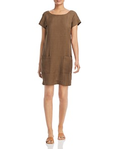 Eileen Fisher Petites - Textured Patch-Pocket Shift Dress