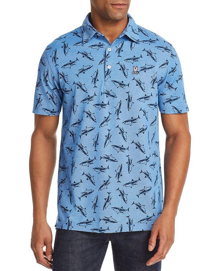 Psycho Bunny - Wilton Shark-Print Regular Fit Polo Shirt