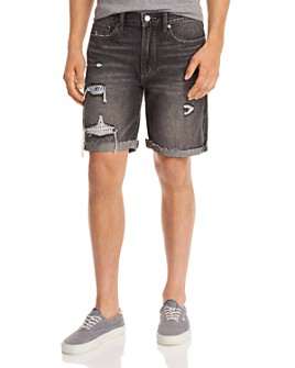 BLANKNYC - Destroyed Regular Fit Denim Shorts in Pillow Talk