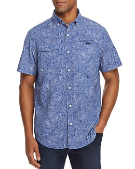 Vineyard Vines - Surf No Turf Harbor Short-Sleeve Fish-Print Classic Fit Button-Down Shirt
