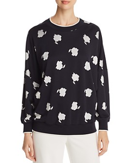 Max Mara - Foggia Abstract Botanical-Print Sweater