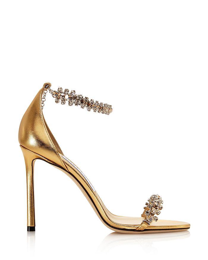 b4ee0b37e35 Jimmy Choo Women's Shiloh 100 Crystal Embellished High-Heel Sandals ...