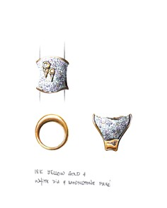 JOHN HARDY - 18K Yellow Gold Cinta Collection One-of-a-Kind Bamboo Saddle Ring with Yellow & Champagne Diamond - 100% Exclusive