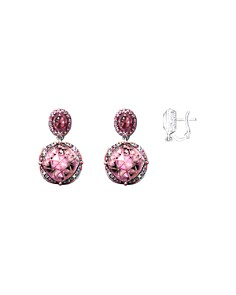 JOHN HARDY - 18K Rose Gold Cinta Collection One-of-a-Kind Naga Multi-Stone Drop Earrings with Brown Diamonds - 100% Exclusive