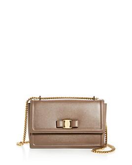 Salvatore Ferragamo - Medium Ginny Bow Leather Shoulder Bag
